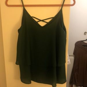 Dark green layered tank